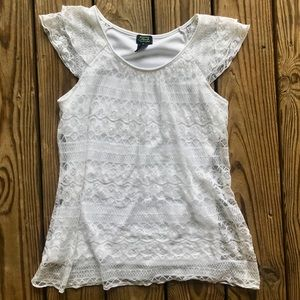 White Lace Top ✨